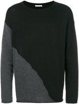 Societe Anonyme contrast knit sweater - men - Merino - M