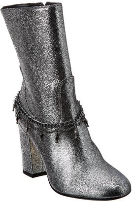 Pinko Struttura Leather Bootie