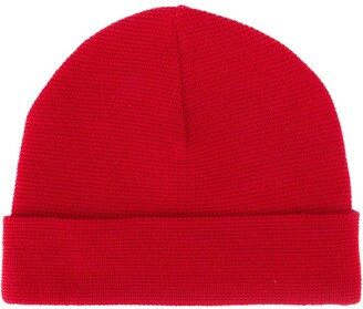 AMI Paris Gauge-Knit Beanie