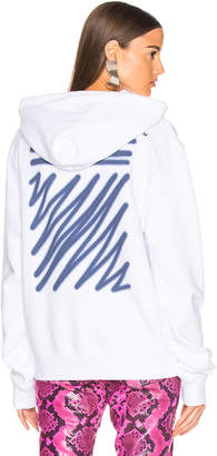 Off-White Off White EXCLUSIVE Hooded Sweatshirt in White | FWRD