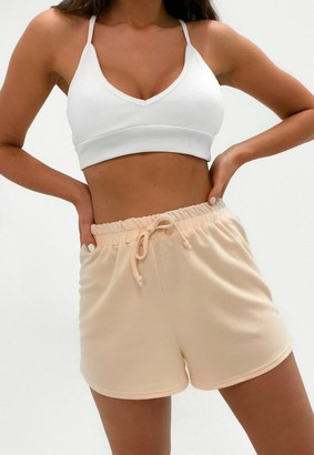 Missguided Tall Sand Drawstring Shorts