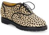 Charlotte Olympia Stefania Cheetah-Print Calf Hair Oxfords
