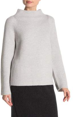 Vince Button Sleeve Wool Blend Ribbed Knit Sweater