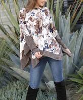 Egs By Eloges egs by eloges Women's Tunics CREAM - Cream & Mocha Floral Oversize Tunic - Women & Plus