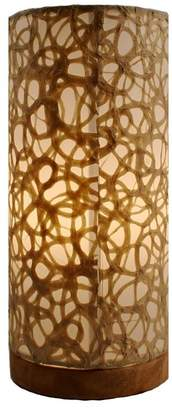 Eangee Home Design Paper Cylinder Lamp Table Swirl