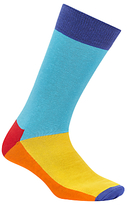 Happy Socks Five Colour Socks, One Size, Blue/multi