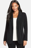 Vikki Vi Plus Size Women's One-Button Stretch Knit Blazer