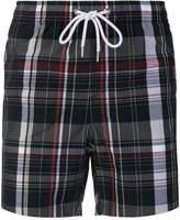Moncler Gamme Bleu checked swim shorts