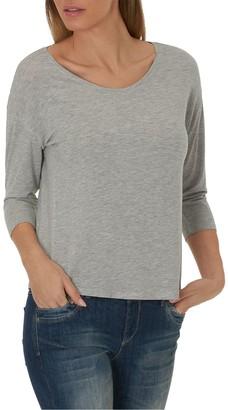 Melange Home Betty & Co. Three-Quarter Sleeve Jersey Top, Light Silver