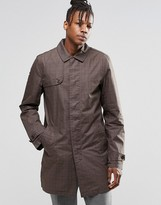Original Penguin Checked Trench Jacket
