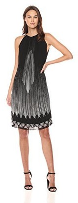 Max Studio Women's Hi-Neck Sleeveless Pleated Dress