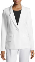 Milly Slim-Fit One-Button Blazer, White