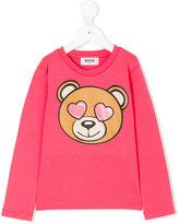 Moschino Kids - bear print long sleeve T-shirt - kids - Cotton/Spandex/Elastane - 12 yrs