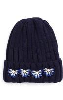 Tasha Women's Crystal Embellished Beanie - Blue
