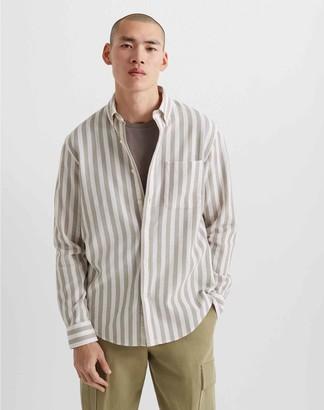 Club Monaco Waffle Stripe Shirt