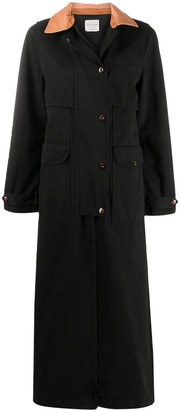 Forte Forte Contrast Collar Trench Coat