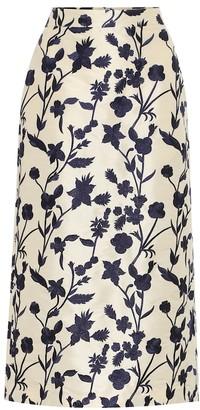 Brock Collection Quercini floral-jacquard midi skirt
