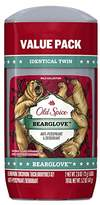 Old Spice Wild Collection Invisible Solid Antiperspirant and Deodorant, Bearglove, 2 Count Packaging may Vary