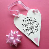 Country Heart Bridesmaid Personalised Message Heart