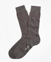 Brooks Brothers Windowpane Crew Socks
