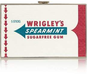 Anya Hindmarch Wrigley's Imperial Spearmint Gum Printed Elaphe Box Clutch