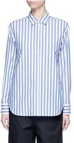 KUHO Star slogan stripe print poplin shirt