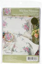 Tobin Stamped Pillowcase Pair for Embroidery, 20 by 30-Inch