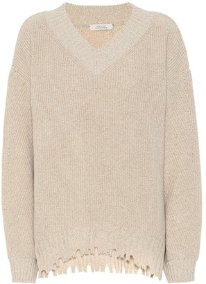 Schumacher Dorothee Fringe Vitality wool and cashmere sweater