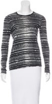 Proenza Schouler Striped Long Sleeve Top