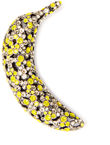 Sonia Rykiel Crystal-embellished banana-shaped brooch