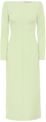 Emilia Wickstead Asher boatneck cloque midi dress
