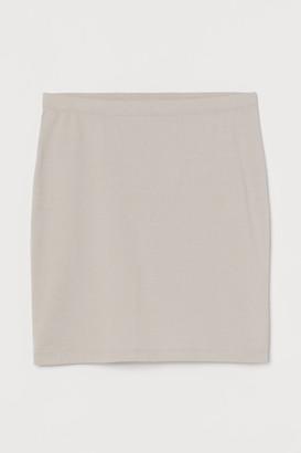 H&M Short Jersey Skirt - Brown