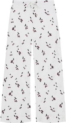 Baum und Pferdgarten Nethe Printed Cotton-blend Poplin Wide-leg Pants