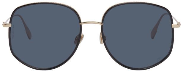 Christian Dior Gold and Black DiorByDior2 Sunglasses