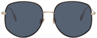Christian Dior Gold and Black DiorByDior2 Sunglasses
