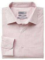 Sears Men's Long Sleeve Plaid Dress Shirt