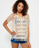 Superdry Lacy Fringe Throw On Top