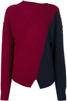 Michel Klein ribbed contrast jumper