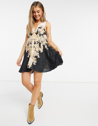 Free People morning sun slip dress