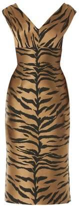 Carolina Herrera Sleeveless Animal-Print Sheath Dress