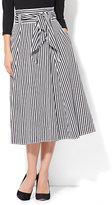 New York & Co. Poplin Tie Waist Skirt - Stripe