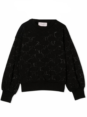 Alberta Ferretti Black Cotton Sweatshirt