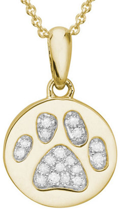 Diamond Select Cuts 14K 0.06 Ct. Tw. Diamond Dog Paw Necklace