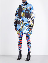 Emilio Pucci Longline printed shell bomber jacket
