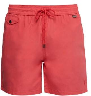 53e85bf7a Polo Ralph Lauren Explorer Fit Logo Embroidered Swim Shorts - Mens - Red