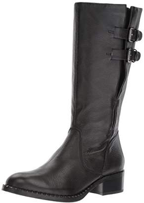 Gentle Souls by Kenneth Cole Women's Brian Mid-calf Boot with Buckle Detail Angled Topline Leather Harness Boot