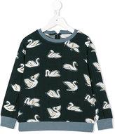 Stella McCartney swan print sweatshirt - kids - Cotton/Acrylic/Polyester/Viscose - 8 yrs