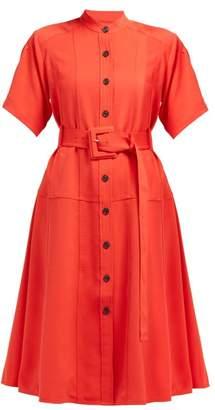 Proenza Schouler Belted Oxford Shirtdress - Womens - Orange