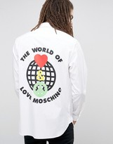 Love Moschino The World Of Back Print Shirt