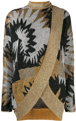 Missoni printed wrap cardigan